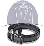 Men's leather belt Royalty Free Stock Photos