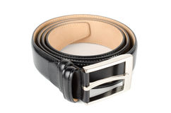 Men's leather belt Stock Photo