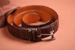 Men's leather belt Royalty Free Stock Photo