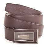 Men's leather belt with buckle Stock Photography