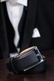 Men`s leather belt Royalty Free Stock Image