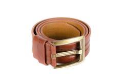Men's leather belt Stock Images
