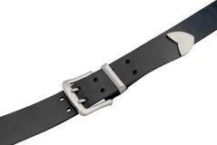 Men's leather  black belt Royalty Free Stock Images