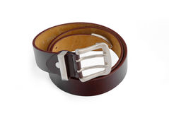 Men's leather  brown belt Stock Photo
