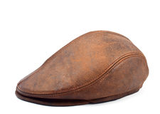 Men's leather cap Stock Photography