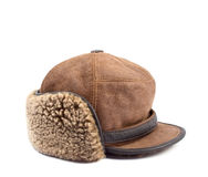 Men's leather cap Royalty Free Stock Photography