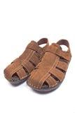 Men's leather sandal Stock Images