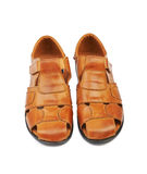 Men's leather sandals Stock Photography