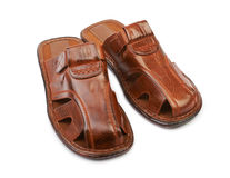 Men's leather sandals Royalty Free Stock Images