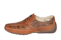 Men's leather shoes. Royalty Free Stock Photography
