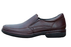 Men's leather shoes. Royalty Free Stock Photo