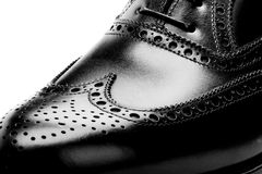 Men's leather shoes closeup Royalty Free Stock Image