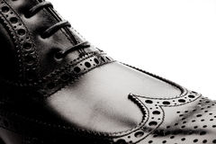 Men's leather shoes closeup Royalty Free Stock Photography