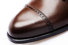 Men's leather shoes closeup Royalty Free Stock Photo