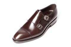Men's leather shoes closeup Stock Image