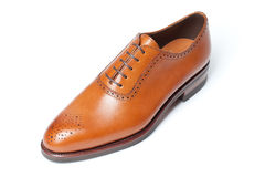 Men's leather shoes closeup Stock Photo