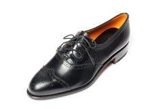 Men's leather shoes closeup Stock Photos
