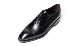 Men's leather shoes closeup Stock Photography
