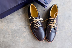 Men`s leather shoes Royalty Free Stock Photos