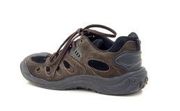 Men's leather walking shoe Stock Image