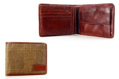 Men\'s leather wallet. Royalty Free Stock Photography