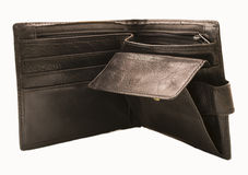 Men's leather wallet Stock Images