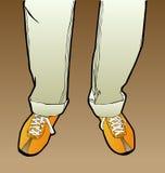 Men's legs. Men's vector feet in shoes Stock Photos