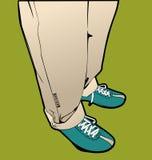 Men's legs. Men's vector feet in shoes Royalty Free Stock Photo