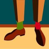 Men's legs Vector illustration Royalty Free Stock Photos