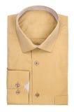 Men's light ocher shirt Royalty Free Stock Photos