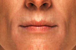 Men's lips Stock Image