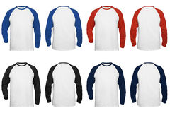 Men's long sleeve baseball T-shirt. Stock Image