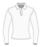Men's long sleeve polo shirt Royalty Free Stock Photography