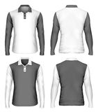Men`s long sleeve polo shirt Royalty Free Stock Photo