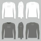 Men`s long sleeve t-shirt Stock Photos