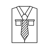 Men`s long-sleeved shirt. With tie vector illustration graphic design Royalty Free Stock Photography