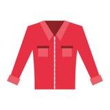 Men`s long-sleeved shirt. Vector illustration graphic design Stock Photo