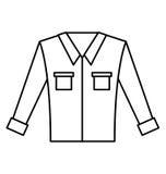 Men`s long-sleeved shirt. Vector illustration graphic design Stock Photography