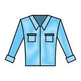 Men`s long-sleeved shirt. Vector illustration graphic design Stock Images
