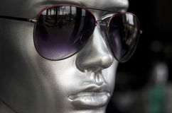 Men's mannequin with sunglasses Royalty Free Stock Image