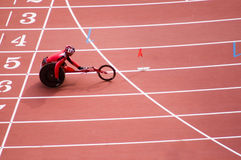 Men's marathon in Beijing Paralympic Games. The September 17, the Beijing Paralympic Games track and field competition in the final of a competition.Men's 400 Royalty Free Stock Photos