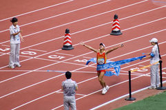 Men's marathon T12 class  in Paralympic Games. The September 17, the Beijing Paralympic Games track and field competition in the final of a competition, this Stock Photography