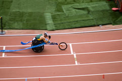Men's marathon T52 class in Paralympic Games Royalty Free Stock Photography