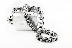 Men's massive chain necklace Royalty Free Stock Photos