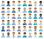 Men`s medical avatars Stock Photos