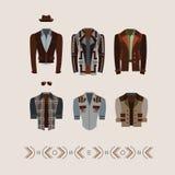 Men`s modern and retro clothes fashion collection. Men`s modern and retro clothes fashion illustration vector illustration