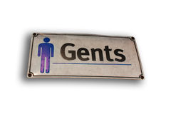 Men's nameplate Royalty Free Stock Images