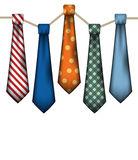 Men's Neck Ties on White Royalty Free Stock Photography