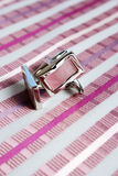 Men�s necktie and cufflinks Stock Images