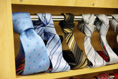 Men's necktie shop Stock Photography